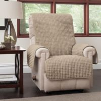 Puff Recliner and Wingback Chair Protector in Natural