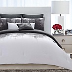 Vince Camuto® Lyon King Duvet Cover Set in Grey/White