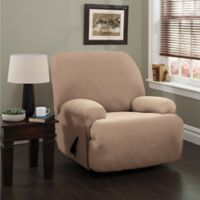 Double Diamond XL Recliner Stretch Slipcover in Beige