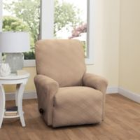 Double Diamond Recliner Stretch Slipcover in Beige