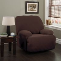 Double Diamond XL Recliner Stretch Slipcover in Chocolate