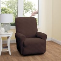 Double Diamond Recliner Stretch Slipcover in Chocolate