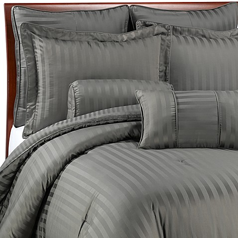 wamsutta 174 damask stripe comforter set in white bed bath wamsutta damask comforter wamsutta damask stripe 941
