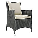 Modway Sojourn Outdoor Dining Armchair in Antique Beige Sunbrella® Canvas