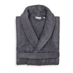 Linum Home Textiles XX-Large Turkish Cotton Terry Unisex Bathrobe in Grey