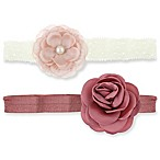 Capelli New York 2-Pack Infant Satin & Lace Headwraps
