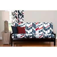 PoloGear Valor Queen Futon Slipcover in Grey/Red