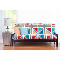 PoloGear Windsor Full Futon Slipcover in Orange/Teal