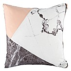 Carrara Pieced Marble Square Throw Pillow