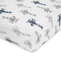 aden® by aden + anais® Sky High Cotton Muslin Crib Sheet in Blue