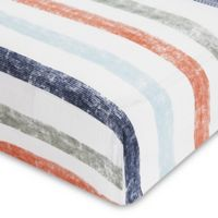 aden® by aden + anais® Hit the Road Cotton Muslin Crib Sheet in Blue/Orange