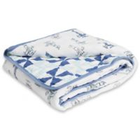 aden® by aden + anais® Dapper Cotton Muslin Blanket in Sky High