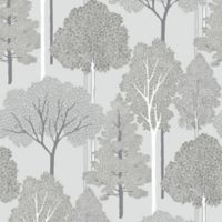 Imagine Ellwood Wallpaper in Silver