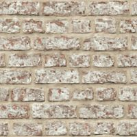 Opera Rustic Brick Wallpaper in Red/Brown