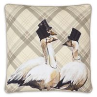 Own Label Products Geese Embroidered Square Pillow