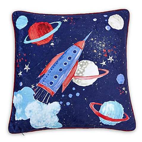 Imagine Fun 18-Inch Square Starship Throw Pillow in Blue - Bed Bath & Beyond