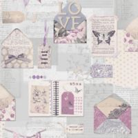 V.I.P PS I Love You Stationary Wallpaper in Lilac