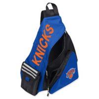 NBA New York Knicks Leadoff Sling Backpack in Royal Blue/Black
