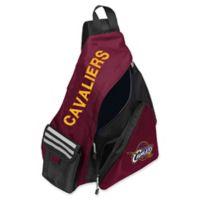 NBA Cleveland Cavaliers Leadoff Sling Backpack in Burgundy/Black