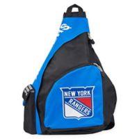 NHL New York Rangers Leadoff Sling Backpack in Royal Blue/Black