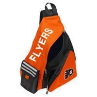 NHL Philadelphia Flyers Leadoff Sling Backpack in Orange/Black
