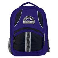 MLB Colorado Rockies Captain Backpack in Purple/Black