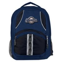 MLB Milwaukee Brewers Captain Backpack in Navy/Black