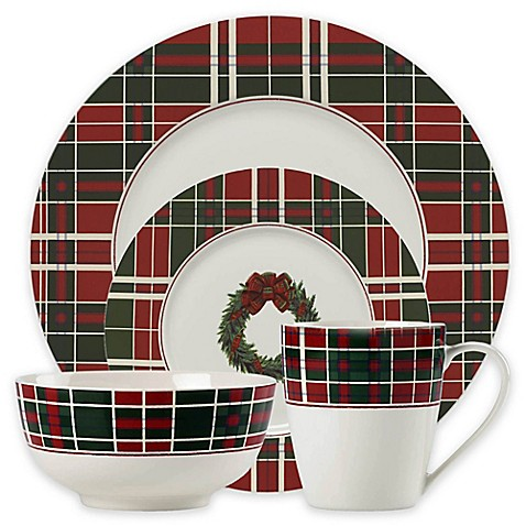Lenox® Vintage Plaid Dinnerware Collection - Bed Bath & Beyond