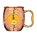 "Monogram Letter ""B"" Moscow Mule Mug in Copper"