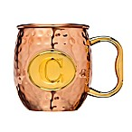 "Monogram Letter ""C"" Moscow Mule Mug in Copper"