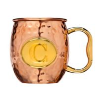 "Monogram Letter ""C"" Moscow Mule Mug in Copper"