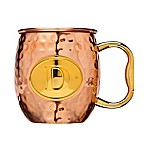 "Monogram Letter ""D"" Moscow Mule Mug in Copper"