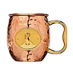 "Monogram Letter ""K"" Moscow Mule Mug in Copper"