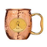 "Monogram Letter ""K"" Moscow Mule Mug in Copper"