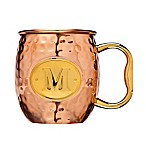 "Monogram Letter ""M"" Moscow Mule Mug in Copper"