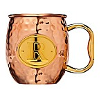 "Monogram Letter ""R"" Moscow Mule Mug in Copper"
