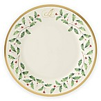 "Lenox® Holiday™ Monogram Letter ""A"" Salad Plate"