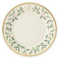 "Lenox® Holiday™ Monogram Letter ""E"" Salad Plate"