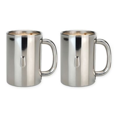buy stainless steel coffee mugs from bed bath beyond