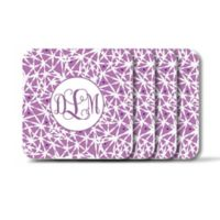 Carved Solutions Elements Square Coasters in Lavender (Set of 4)