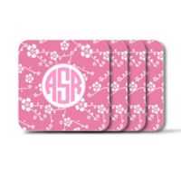 Carved Solutions Elements Square Coasters in Pink (Set of 4)