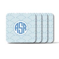 Carved Solutions Elements Square Coasters in Blue (Set of 4)
