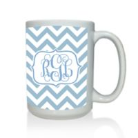 Carved Solutions Chevron Mug in Blue