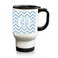 Carved Solutions Chevron Travel Mug in Blue