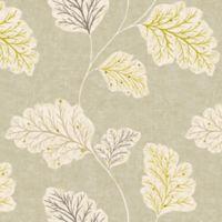 Leaf Motif Cotton Swatch in Natural