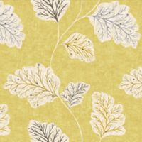 Leaf Motif Cotton Swatch in Gold
