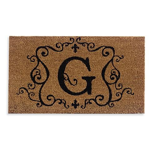 "Monogram Letter ""G"" 16-Inch x 28-Inch Coir Door Mat Insert ..."
