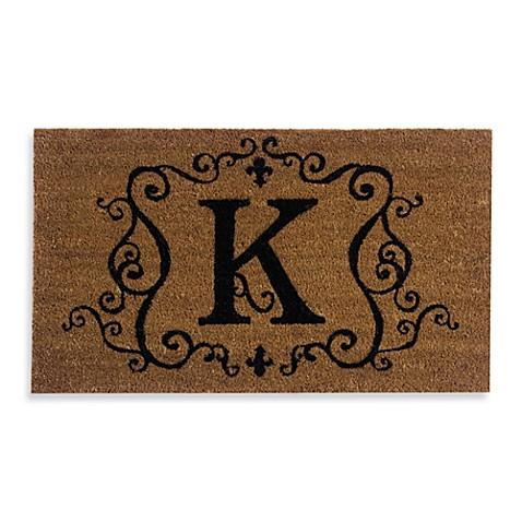Monogram Letter Quot K Quot 16 Inch X 28 Inch Coir Door Mat Insert
