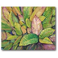 Courtside Market Tropical Flowers 20-Inch x 16-Inch Canvas Wall Art