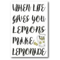 Courtside Market When Life Gives Lemons 12-Inch x 18-Inch Canvas Wall Art